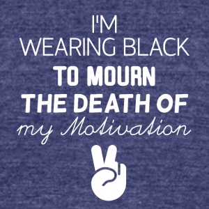 I am wearing black - Unisex Tri-Blend T-Shirt by American Apparel