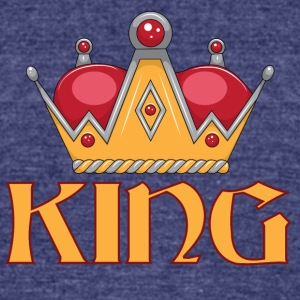 red gold king crown - Unisex Tri-Blend T-Shirt by American Apparel