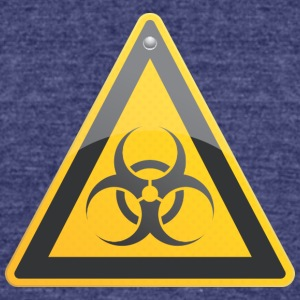 Road_sign_biohazard - Unisex Tri-Blend T-Shirt by American Apparel