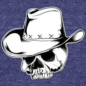 cowboy_skull - Unisex Tri-Blend T-Shirt by American Apparel