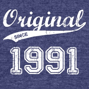 1991 - Unisex Tri-Blend T-Shirt by American Apparel