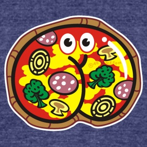 Assmex pizza salami - Unisex Tri-Blend T-Shirt by American Apparel
