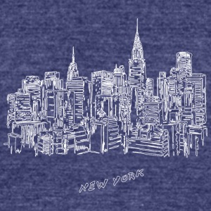 New York City - United States - Unisex Tri-Blend T-Shirt by American Apparel
