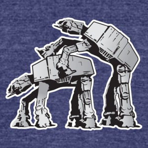 Star Wars AT-AT Dark side - Unisex Tri-Blend T-Shirt by American Apparel