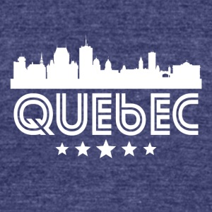 Retro Quebec Skyline - Unisex Tri-Blend T-Shirt by American Apparel