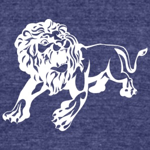 scary_lion_white - Unisex Tri-Blend T-Shirt by American Apparel