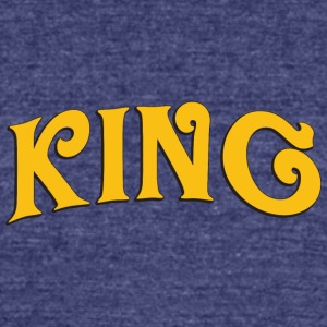 King 3 - Unisex Tri-Blend T-Shirt by American Apparel