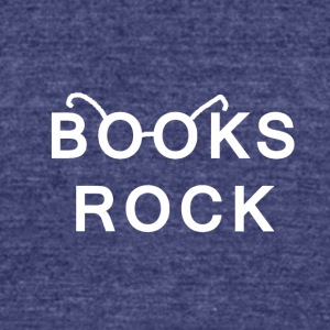 Books Rock White Logo - Unisex Tri-Blend T-Shirt by American Apparel