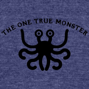 the one true monster BLACK - Unisex Tri-Blend T-Shirt by American Apparel