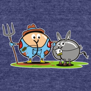 Assmex farmer and donkey - Unisex Tri-Blend T-Shirt by American Apparel