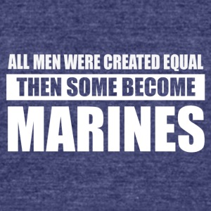 Marines design - Unisex Tri-Blend T-Shirt by American Apparel