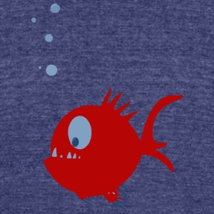 Fish - Unisex Tri-Blend T-Shirt by American Apparel