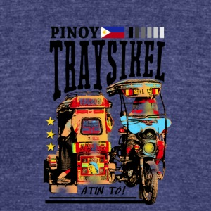Pinoy Traysikel - Unisex Tri-Blend T-Shirt by American Apparel