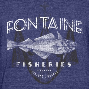 Fontaine Fisheries - Unisex Tri-Blend T-Shirt by American Apparel