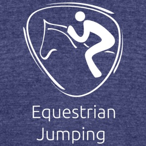 Equestrian_jumping_white - Unisex Tri-Blend T-Shirt by American Apparel