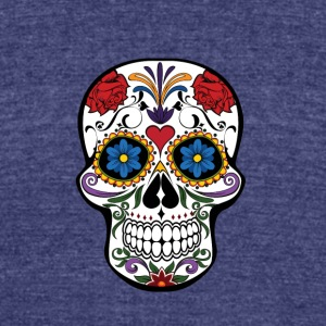 skull - Unisex Tri-Blend T-Shirt by American Apparel