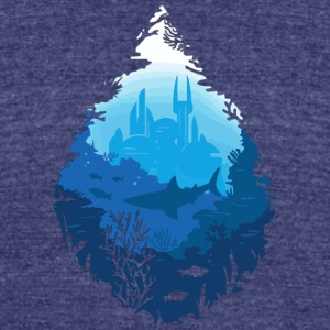 Atlantis - Unisex Tri-Blend T-Shirt by American Apparel