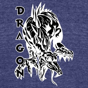 dragon_on_four_legs_black - Unisex Tri-Blend T-Shirt by American Apparel