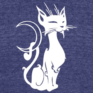 Moon_cat_white - Unisex Tri-Blend T-Shirt by American Apparel
