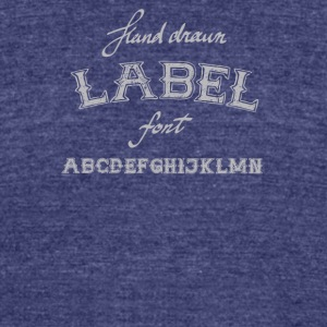 Vintage and retro fonts and alphabet letters - Unisex Tri-Blend T-Shirt by American Apparel