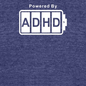 Battery Powered ADHD - Unisex Tri-Blend T-Shirt by American Apparel