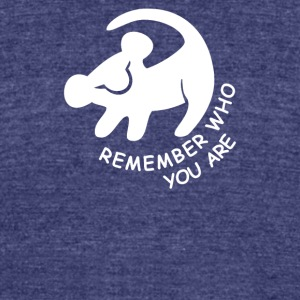 Lion King Remember Who You Are - Unisex Tri-Blend T-Shirt by American Apparel