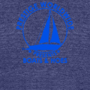 Prestige Worldwide Boats And Hoes - Unisex Tri-Blend T-Shirt by American Apparel