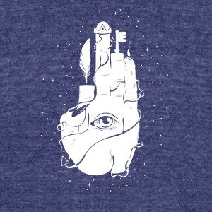 Observers Hand - Unisex Tri-Blend T-Shirt by American Apparel