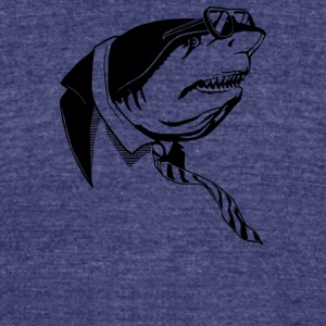 Business Shark - Unisex Tri-Blend T-Shirt by American Apparel