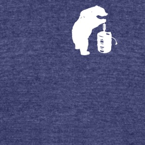 Bear and Beer Keg - Unisex Tri-Blend T-Shirt by American Apparel