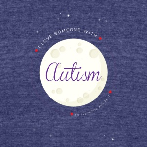 Autism to the moon and Back - Unisex Tri-Blend T-Shirt by American Apparel