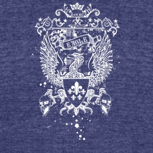 royal_eagle_white - Unisex Tri-Blend T-Shirt by American Apparel