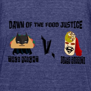 TACO KNIGHT VS SUPER BURRITO - Unisex Tri-Blend T-Shirt by American Apparel