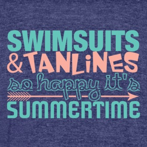 Swimsuits and Tanlines - Unisex Tri-Blend T-Shirt by American Apparel
