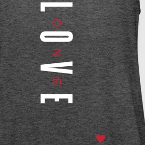 One Love (White/Red Letters) - Women's Flowy Tank Top by Bella