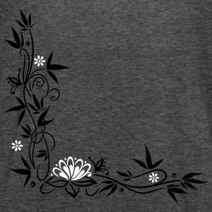 Bamboo with small blossoms and lotus flower. - Women's Flowy Tank Top by Bella