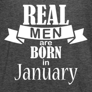 Real men born in January - Women's Flowy Tank Top by Bella