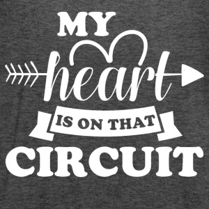 My heart is on that circuit - Women's Flowy Tank Top by Bella
