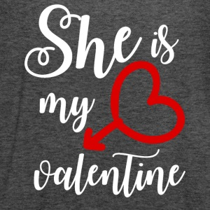She is my Valentine - Women's Flowy Tank Top by Bella