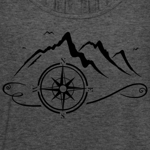 Mountains with compass - Women's Flowy Tank Top by Bella