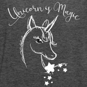 unicorn Drawing cute Animal magic Romantic Funny - Women's Flowy Tank Top by Bella