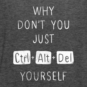 Delete Yourself T Shirt - Women's Flowy Tank Top by Bella