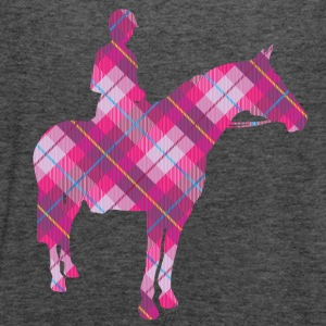 Tartan Horse and Rider - Women's Flowy Tank Top by Bella