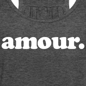 Amour - Fun Design (White Letters) - Women's Flowy Tank Top by Bella