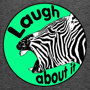 zebra is laughing - Women's Flowy Tank Top by Bella