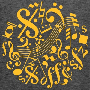 Music Notes and Signs - Women's Flowy Tank Top by Bella