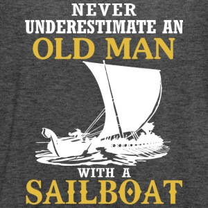 Old Man With A Sailboat T Shirt - Women's Flowy Tank Top by Bella