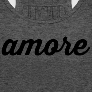 Amore - Cursive Design (Black Letters) - Women's Flowy Tank Top by Bella