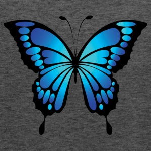 Bright blue butterfly - Women's Flowy Tank Top by Bella