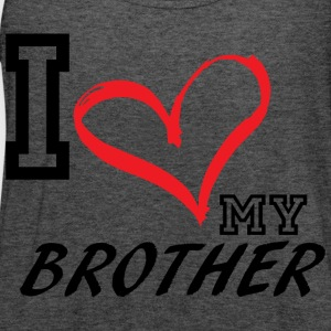 I_LOVE_MY_BROTHER - PLUS SIZE - Women's Flowy Tank Top by Bella